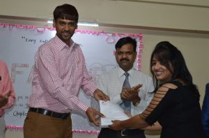 Best outgoing Student Mechanical (Miss. Akanksha Shejal)