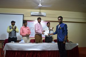 Best Paper presentation award (Mr. Rutwij Munnoli)